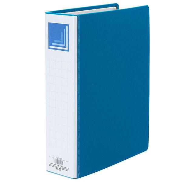 ハピラ 片開きパイプ式ファイル A4タテ とじ厚50mm ブルー 1箱(36冊:12冊入×3箱)