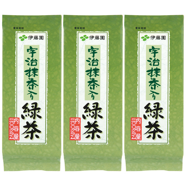 宇治抹茶入り緑茶 200g 3袋