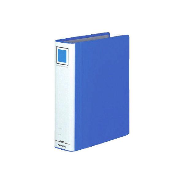 コクヨ チューブファイル エコツインR B5タテ 2穴 とじ厚50mm 青 10冊 両開きパイプ式ファイル フ-RT651B