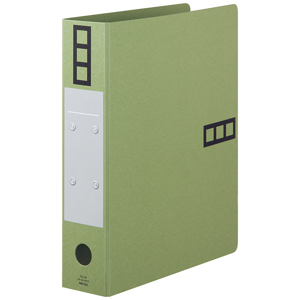 パイプ式ファイルA4 とじ厚50mm 緑