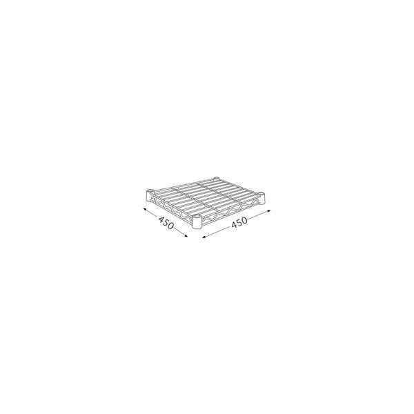 ホームエレクター ワイヤーシェルフ ホワイト 幅450×奥行450mm H1818W1 1枚(直送品)