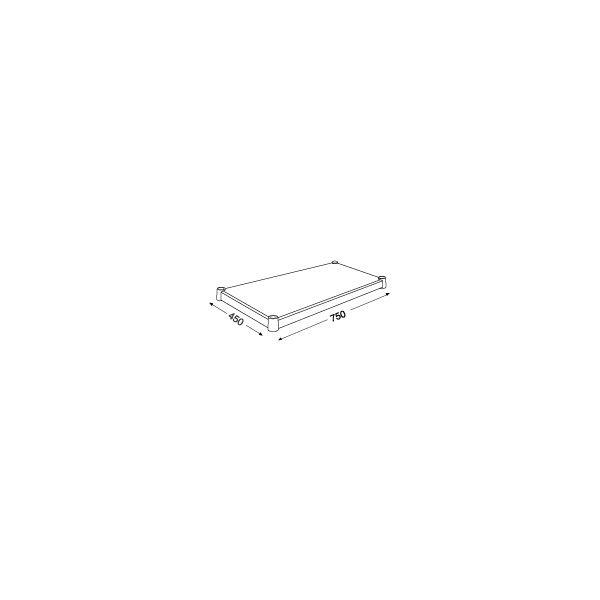 ホームエレクター ウッドシェルフ ホワイト 幅750mm×奥行450mm H1830WH1 (直送品)(直送品)