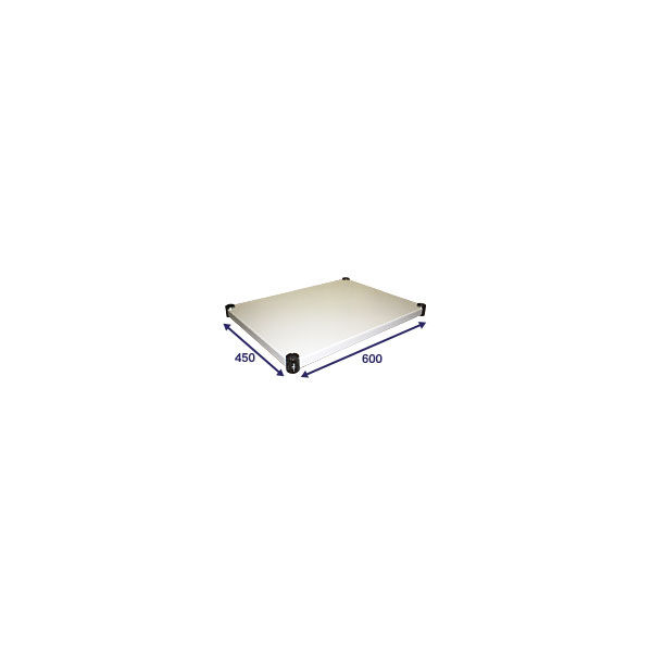 ホームエレクター ウッドシェルフ ホワイト 幅600mm×奥行450mm H1824WH1 (直送品)(直送品)