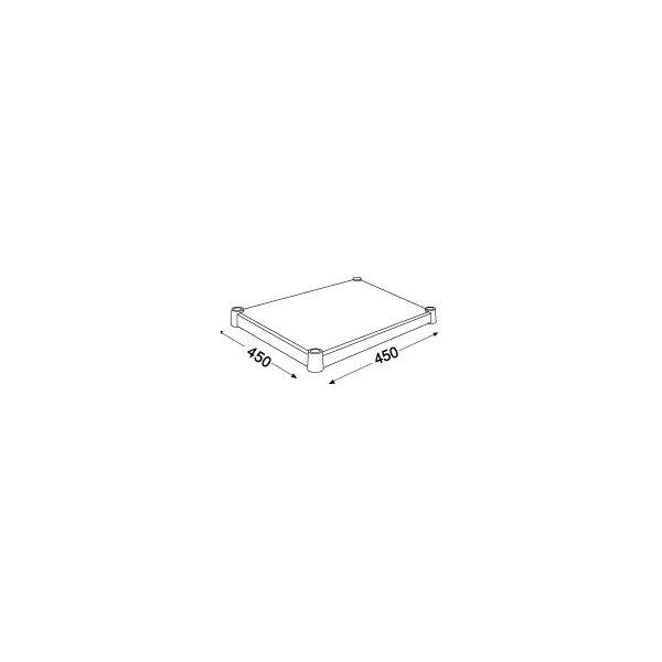 ホームエレクター ウッドシェルフ ホワイト 幅450mm×奥行450mm H1818WH1 (直送品)(直送品)