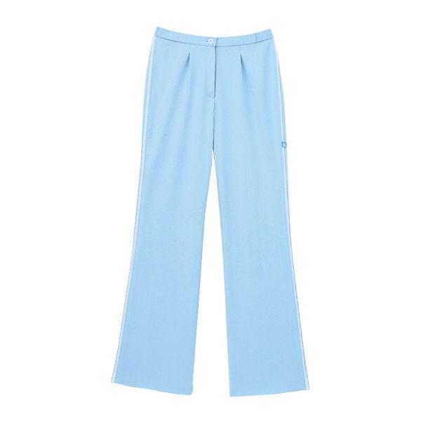 セミブーツカットパンツ ブルー M