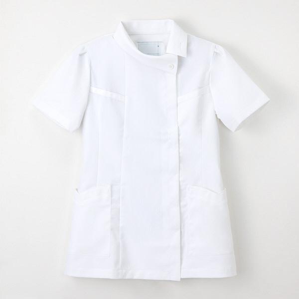 ナガイレーベン チュニック(ロールカラー) ホワイト LL FE-4522 (取寄品)