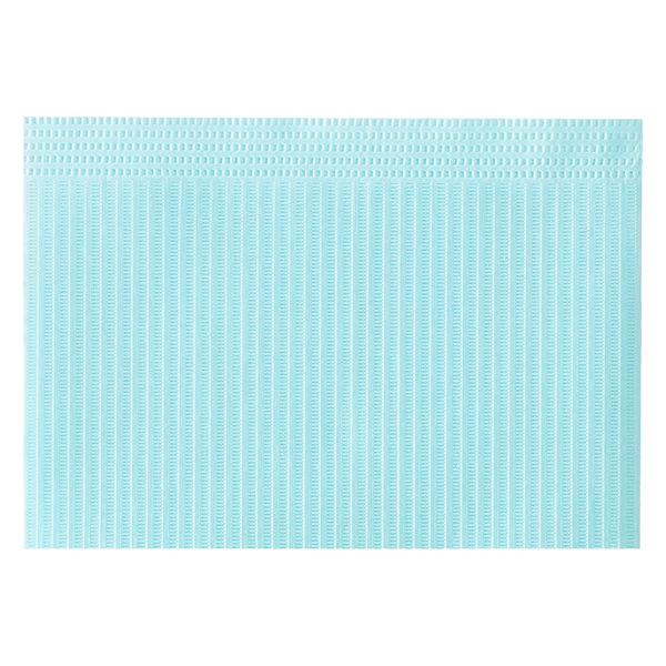 メディコムジャパン ディステック 紙エプロン ブルー 1箱(500枚入)