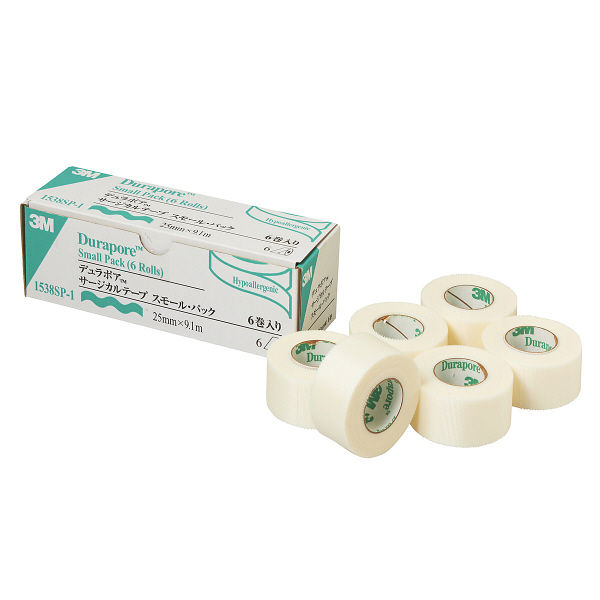 スリーエム ジャパン デュラポアTM サージカルテープ 25mm×9.1m 1538SP-1 1箱(6巻入)