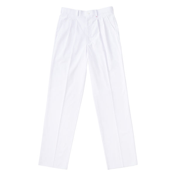 ナガイレーベン 男子スラックス (メンズパンツ) 医療白衣 ホワイト LL KES-5163
