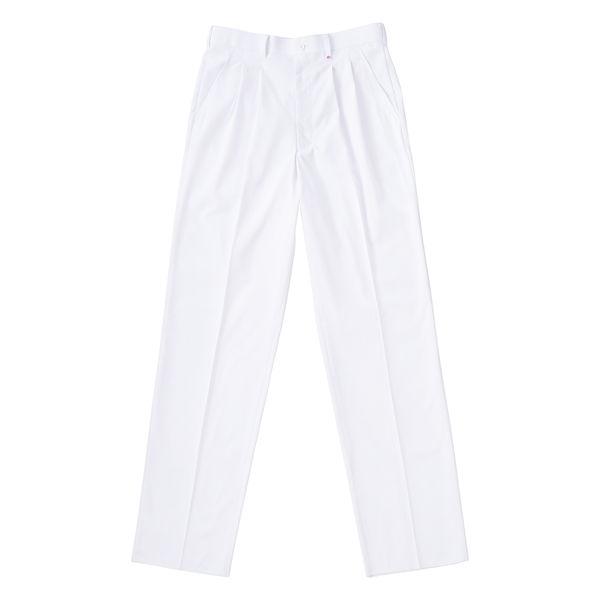 ナガイレーベン 男子スラックス (メンズパンツ) 医療白衣 ホワイト BL KES-5163