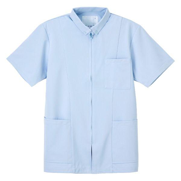 ナガイレーベン 男子上衣(医務衣 ボタンダウンジャケット) HO-1957 ブルー L (取寄品)