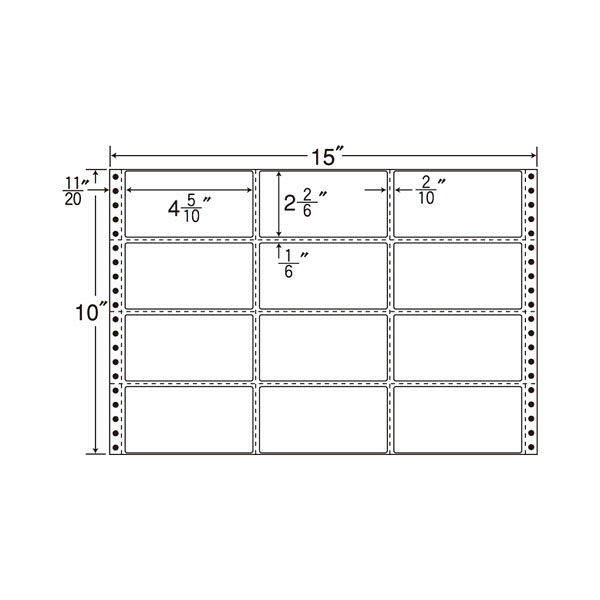 東洋印刷 タックフォームラベル M15C 1箱(500シート入) (直送品)