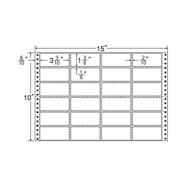 東洋印刷 タックフォームラベル M15D 1箱(500シート入) (直送品)