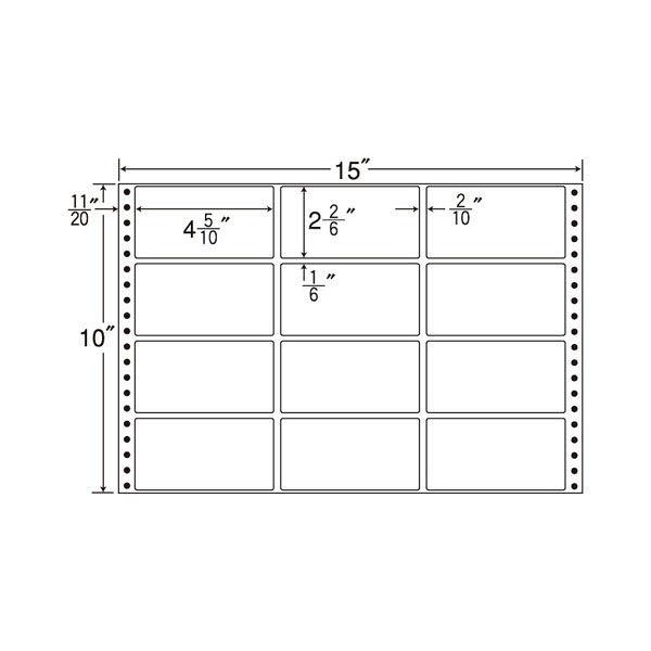 東洋印刷 タックフォームラベル MT15E 1箱(500シート入) (直送品)