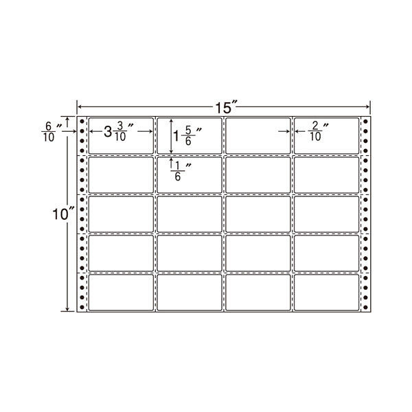 東洋印刷 タックフォームラベル MT15H 1箱(500シート入) (直送品)