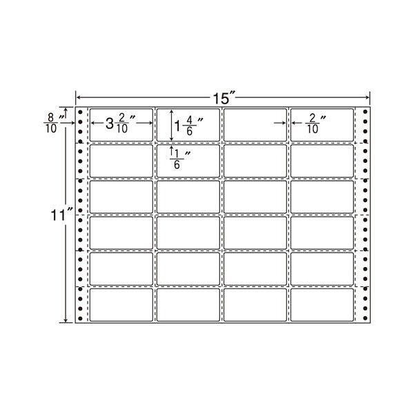 東洋印刷 タックフォームラベル MH15K 1箱(500シート入) (直送品)