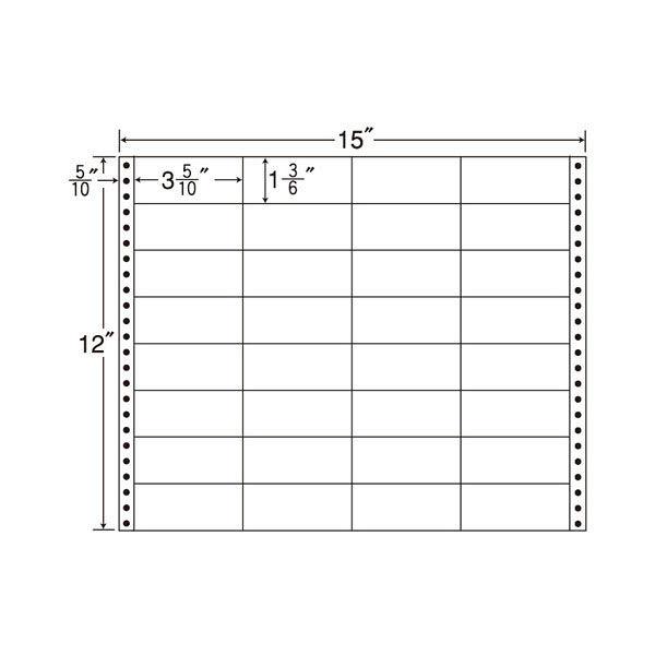 東洋印刷 タックフォームラベル MH15L 1箱(500シート入) (直送品)