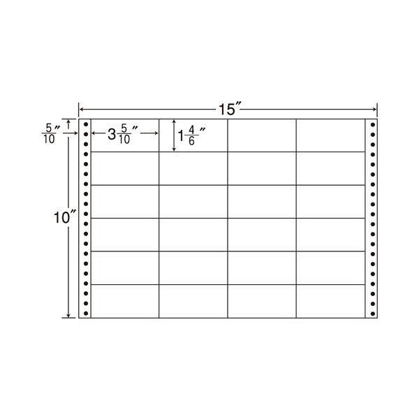 東洋印刷 タックフォームラベル M15N 1箱(500シート入) (直送品)
