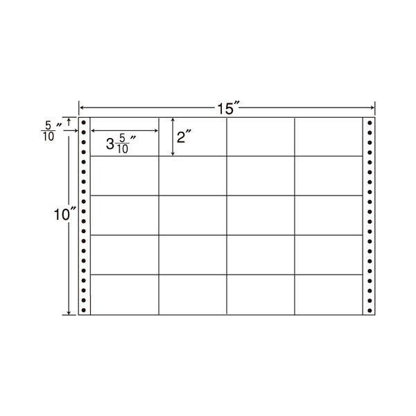 東洋印刷 タックフォームラベル M15U 1箱(500シート入) (直送品)