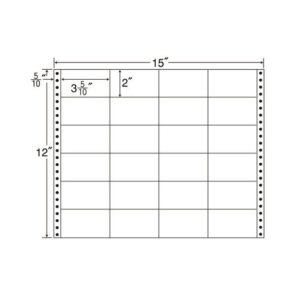 東洋印刷 タックフォームラベル M15W 1箱(500シート入) (直送品)