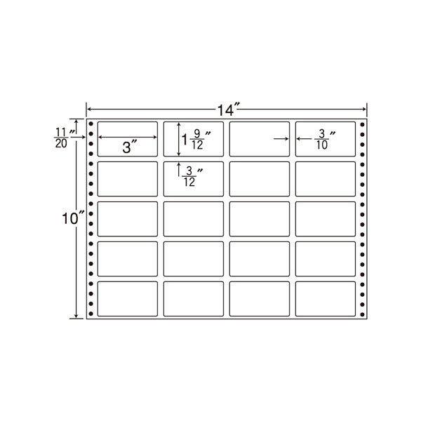 東洋印刷 タックフォームラベル MT14J 1箱(500シート入) (直送品)