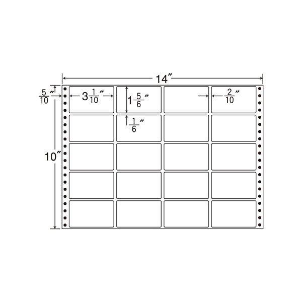 東洋印刷 タックフォームラベル M14X 1箱(500シート入) (直送品)