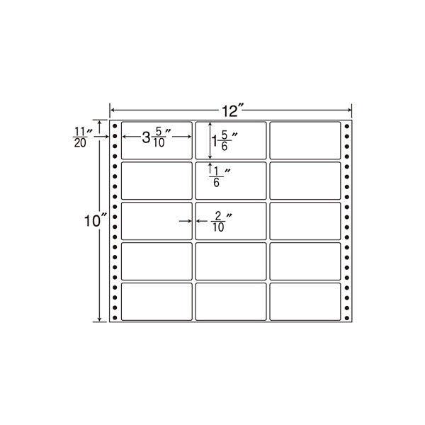 東洋印刷 タックフォームラベル M12H 1箱(500シート入) (直送品)