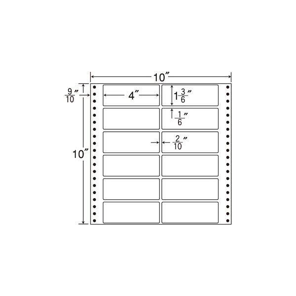 東洋印刷 タックフォームラベル M10H 1箱(500シート入) (直送品)