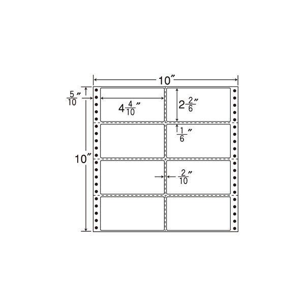 東洋印刷 タックフォームラベル MT10H 1箱(500シート入) (直送品)