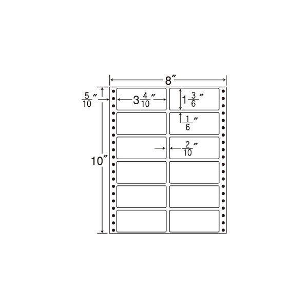 東洋印刷 タックフォームラベル MM8A 1箱(500シート入) (直送品)