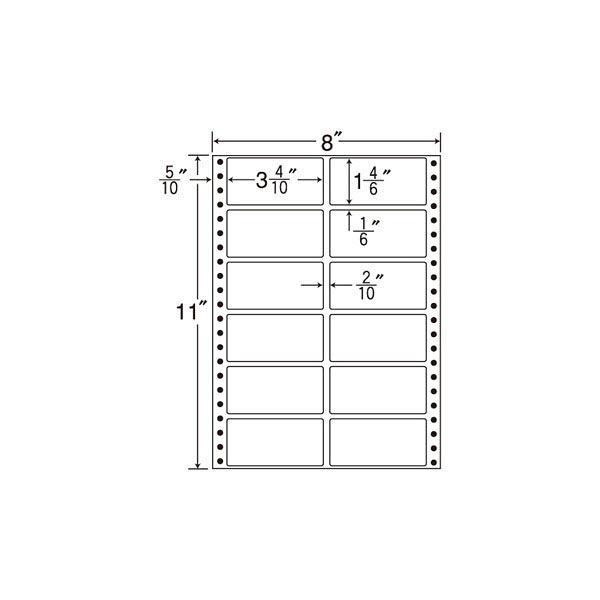 東洋印刷 タックフォームラベル MM8G 1箱(500シート入) (直送品)