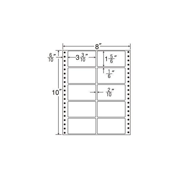 東洋印刷 タックフォームラベル MM8i 1箱(500シート入) (直送品)