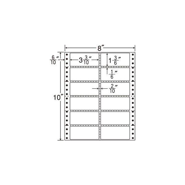 東洋印刷 タックフォームラベル MM8Q 1箱(500シート入) (直送品)