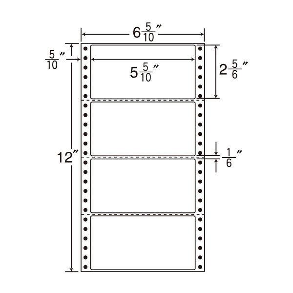 東洋印刷 タックフォームラベル MM6C 1箱(1000シート入) (直送品)
