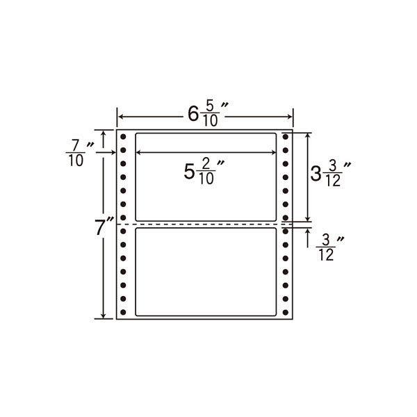 東洋印刷 タックフォームラベル MM6H 1箱(1000シート入) (直送品)