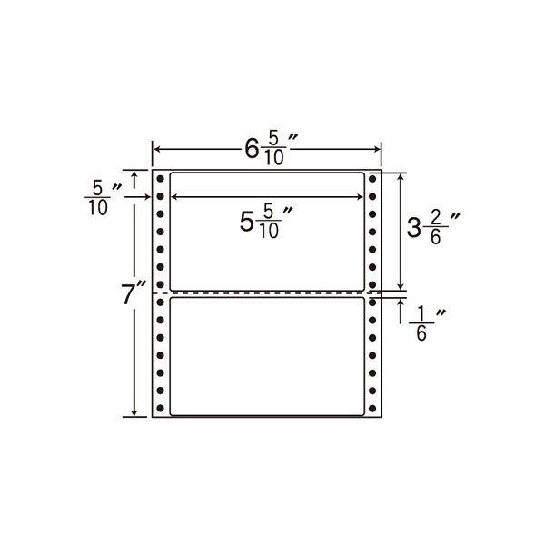 東洋印刷 タックフォームラベル MM6i 1箱(1000シート入) (直送品)