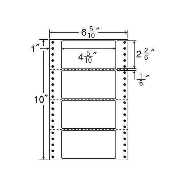 東洋印刷 タックフォームラベル MT6i 1箱(1000シート入) (直送品)