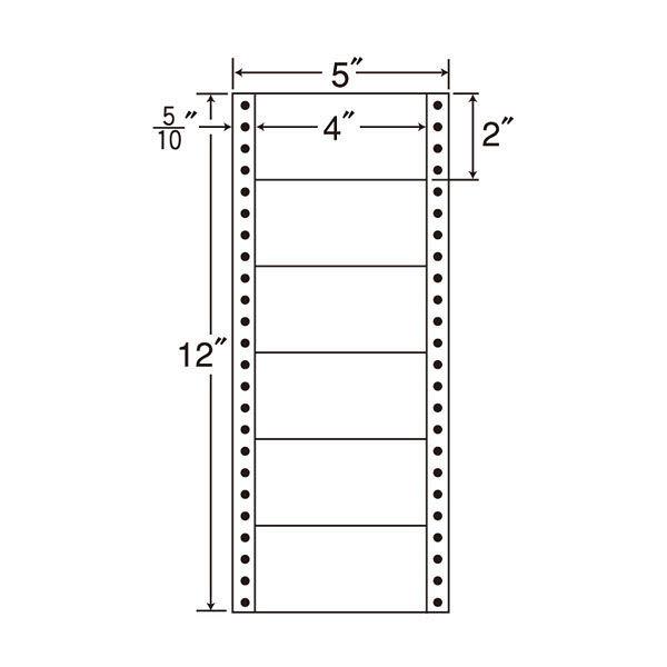 東洋印刷 タックフォームラベル MM5A 1箱(1000シート入) (直送品)