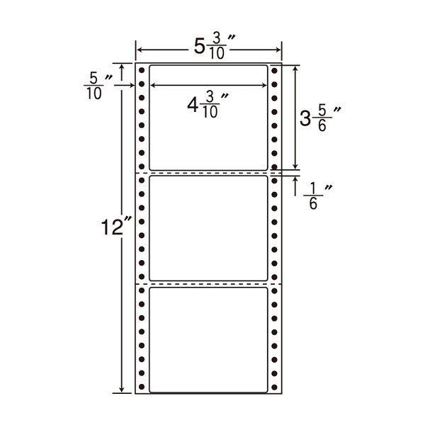 東洋印刷 タックフォームラベル MT5D 1箱(1000シート入) (直送品)