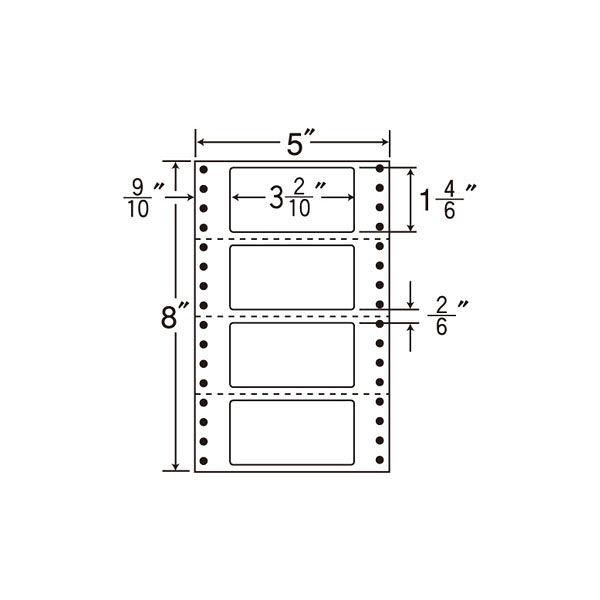 東洋印刷 タックフォームラベル MX5F 1箱(1000シート入) (直送品)