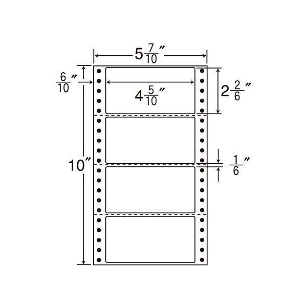 東洋印刷 タックフォームラベル MT5O 1箱(1000シート入) (直送品)