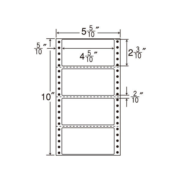 東洋印刷 タックフォームラベル MM5W 1箱(1000シート入) (直送品)