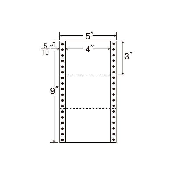 東洋印刷 タックフォームラベル MM5Z 1箱(1000シート入) (直送品)