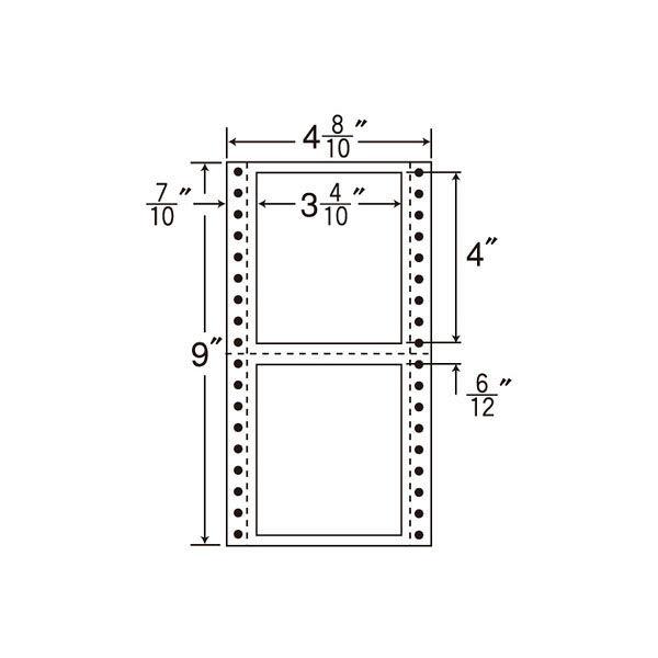 東洋印刷 タックフォームラベル MT4A 1箱(1000シート入) (直送品)