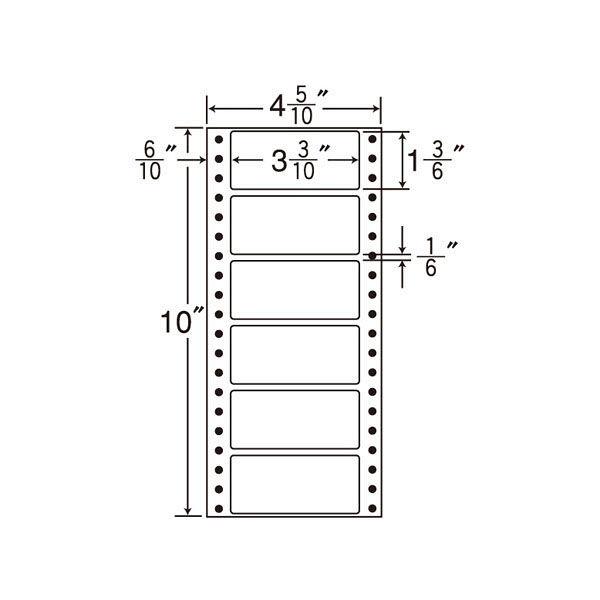 東洋印刷 タックフォームラベル MM4N 1箱(1000シート入) (直送品)