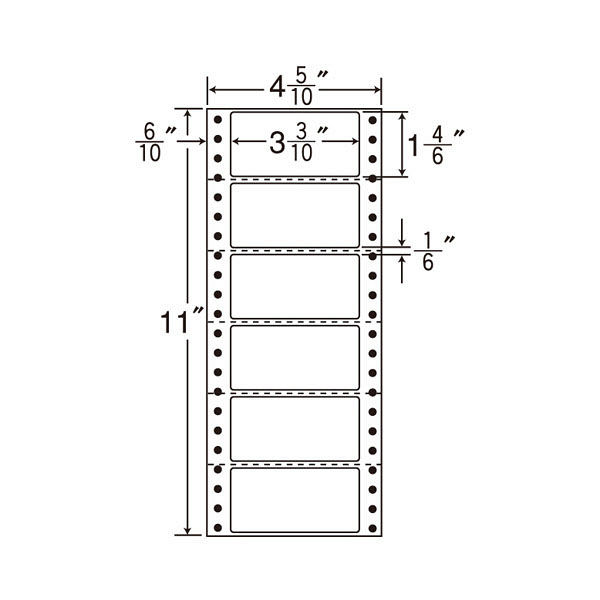 東洋印刷 タックフォームラベル MM4U 1箱(1000シート入) (直送品)