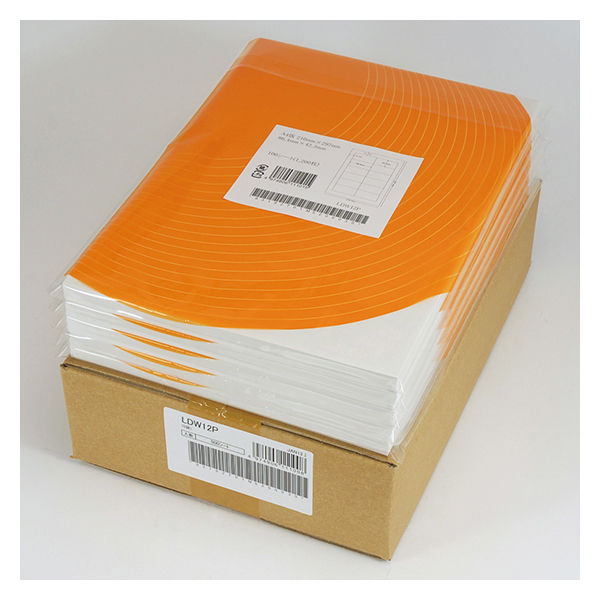 東洋印刷 ナナワード粘着ラベルワープロ&レーザー用 LDW12PO 1箱(500シート入) (直送品)