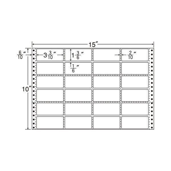 東洋印刷 タックフォームラベル M15J 1箱(500シート入) (直送品)