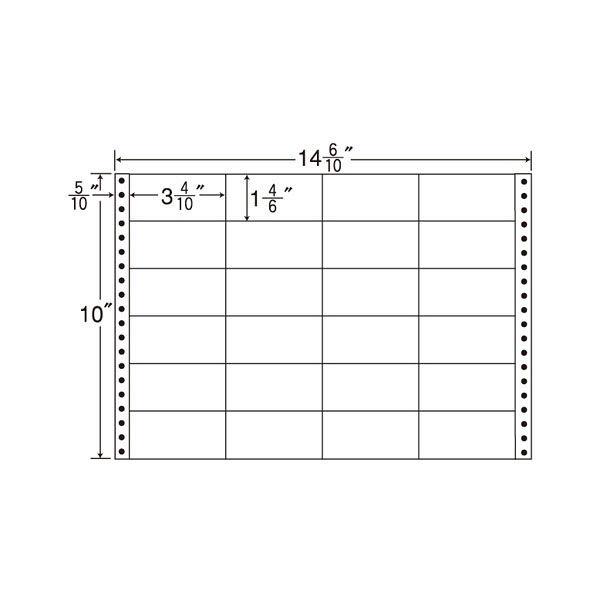 東洋印刷 タックフォームラベル M14N 1箱(500シート入) (直送品)