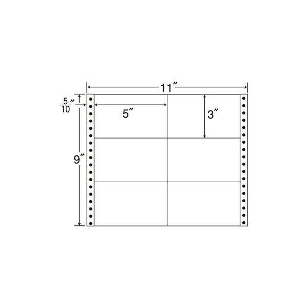 東洋印刷 タックフォームラベル M11A 1箱(500シート入) (直送品)